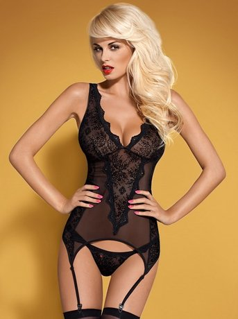 Emperita corset & thong color: black